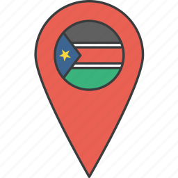african, country, flag, south, sudan icon