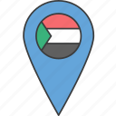 sudan, country, flag, african icon