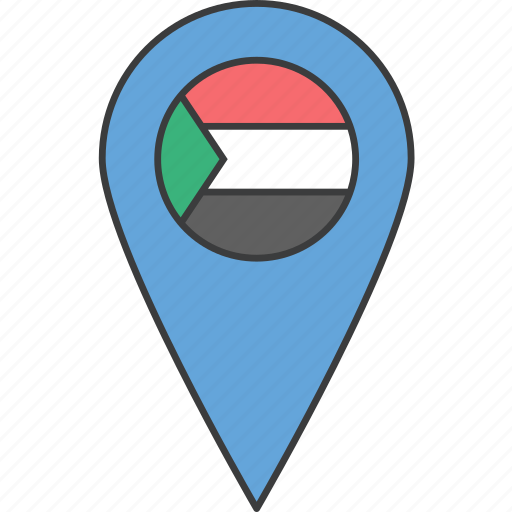 african, country, flag, sudan icon