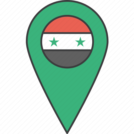 asian, country, flag, syria, syrian icon