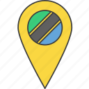 african, country, flag, tanzania, tanzanian icon