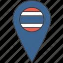 asian, country, flag, thai, thailand