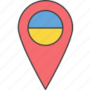 country, european, flag, ukraine, ukrainian icon