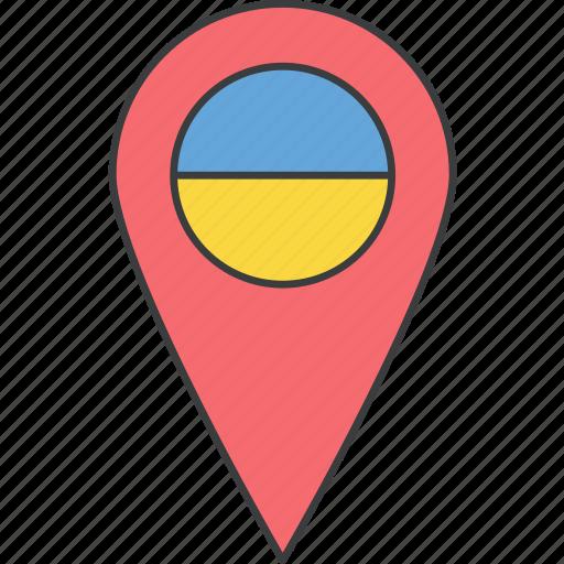 country, european, flag, ukraine, ukrainian icon