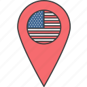 united, usa, country, us, states, flag icon
