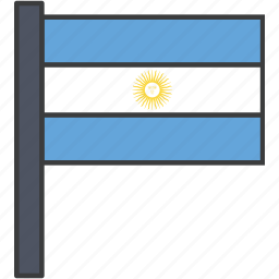 argentina, argentinian, country, flag, national icon