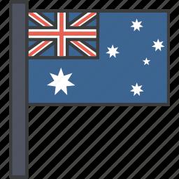 aussie, australia, australian, country, flag, national icon