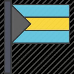 bahamas, country, flag, national icon