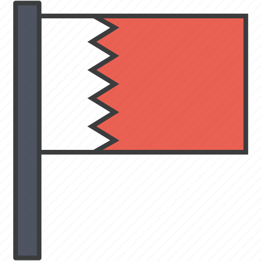 asian, bahrain, bahraini, country, flag, national icon