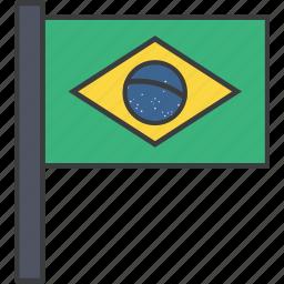 brasil, brazil, brazilian, country, flag, national icon
