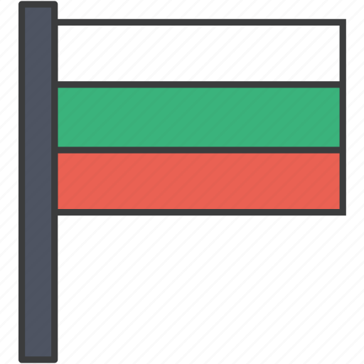 bulgaria, bulgarian, country, european, flag, national icon