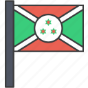 african, burundi, country, flag, national