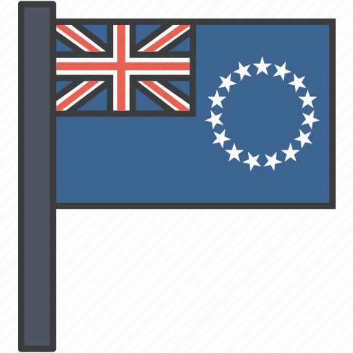 cook, country, flag, island, national icon