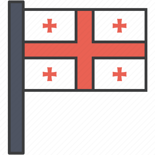 country, european, flag, georgia, georgian, national icon