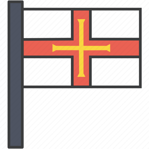country, european, flag, guernsey, national icon