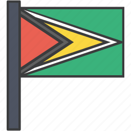 country, flag, guyana, guyanese, national icon