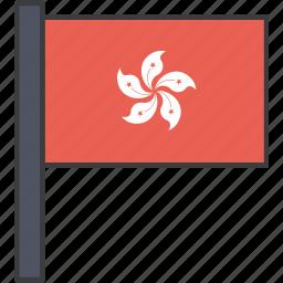 asian, country, flag, hong, kong, national icon