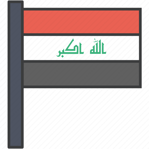 asian, country, flag, iraq, iraqi, national icon