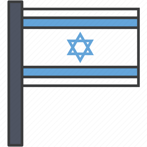 asian, country, flag, israel, national icon