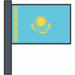 asian, country, flag, kazakh, kazakhstan, kazakhstani, national icon