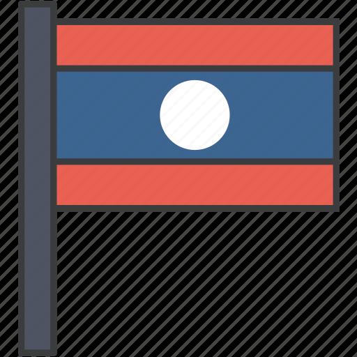 asian, country, flag, laos, laotian, national icon