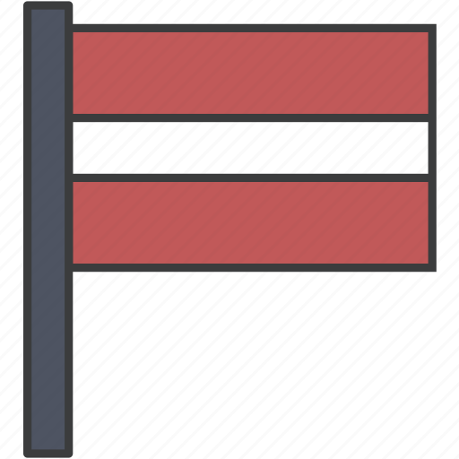country, european, flag, latvia, latvian, national icon