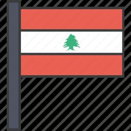 asian, country, flag, lebanese, lebanon, national icon