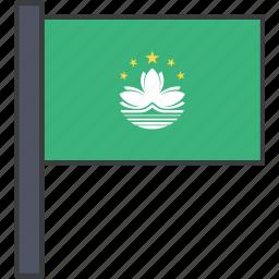 asian, country, european, flag, macau, national icon