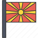 asian, country, european, flag, macedonia, macedonian, national icon