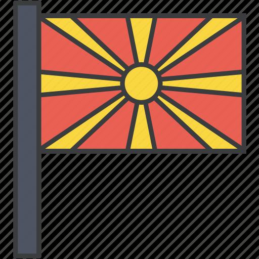 asian, country, european, flag, macedonia, macedonian, national icon