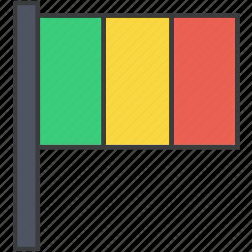 african, country, flag, mali, malian, national icon