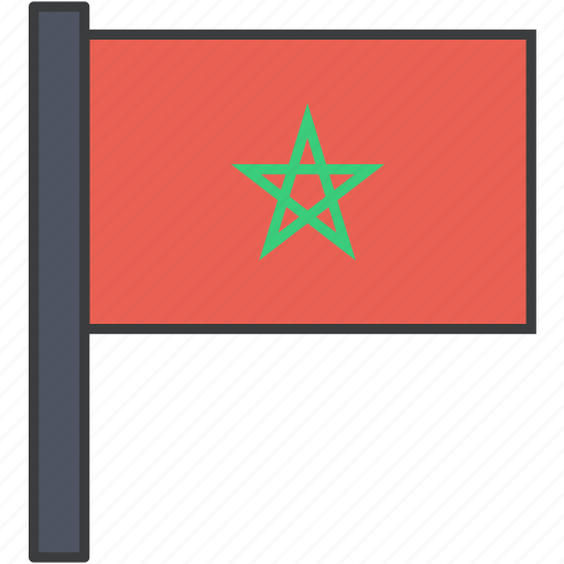 african, country, flag, moroccan, morocco, national icon