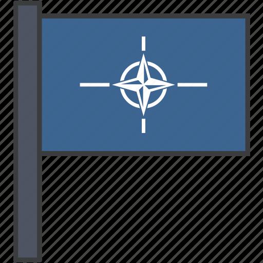 flag, nato, north atlantic, organisation, treaty icon