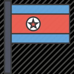 asian, country, flag, korea, korean, national, north icon