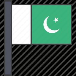 asian, country, flag, national, pakistan, pakistani icon