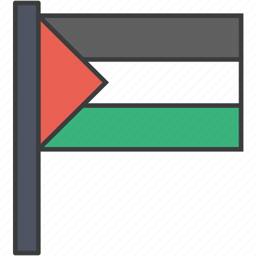 asian, country, flag, national, palestine, palestinian icon