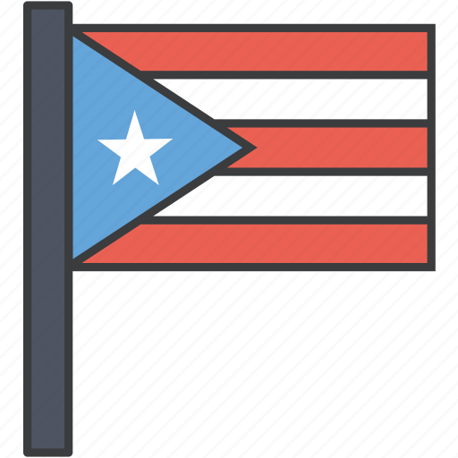 country, flag, national, puerto, puerto rican, rico icon