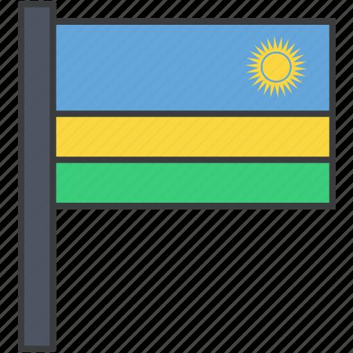 african, country, flag, national, rwanda, rwandan icon
