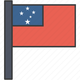 country, flag, national, samoa, samoan icon