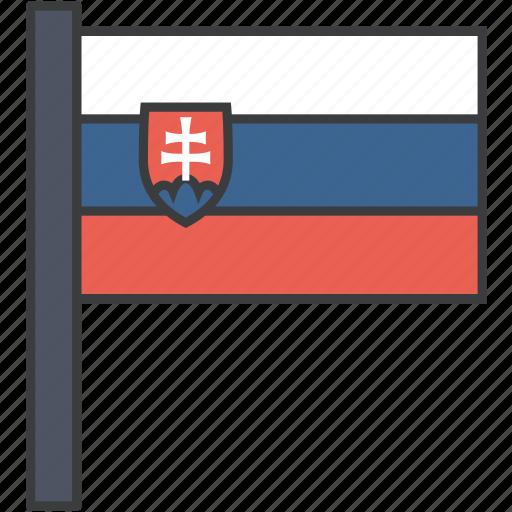 country, european, flag, national, slovakia, slovakian icon