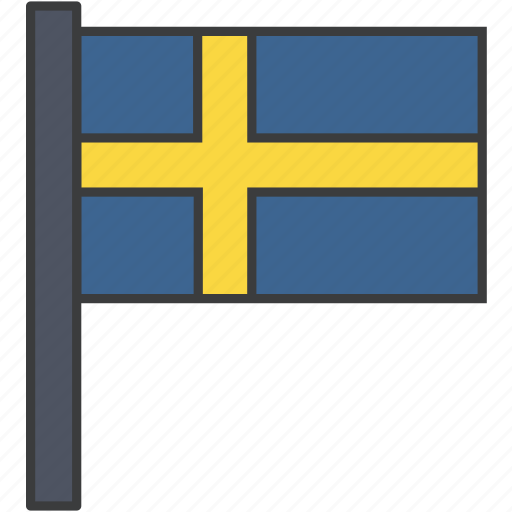country, european, flag, national, swede, sweden, swedish icon