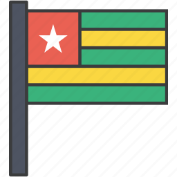 african, country, flag, national, togo icon