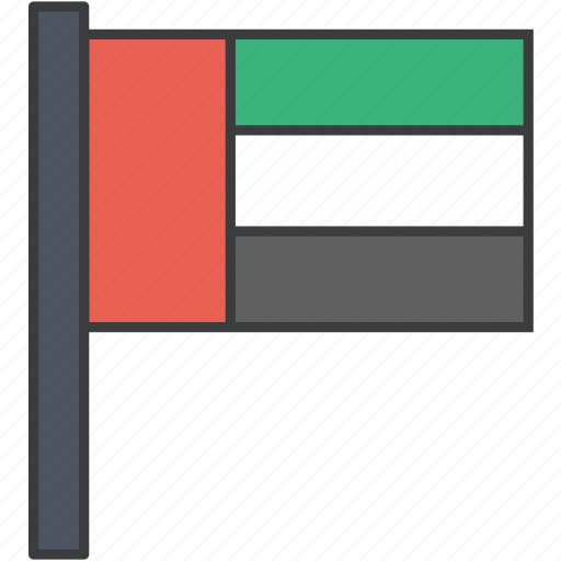 arab, asian, country, emirates, flag, uae, united icon