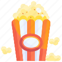 buttered, eat, food, popcorn