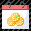 calendar, food, idli, indian icon