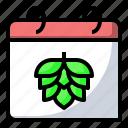 beverage, brew, calendar, food icon