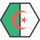 african, algeria, algerian, country, flag icon