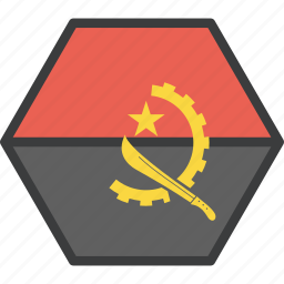 african, angola, country, flag icon