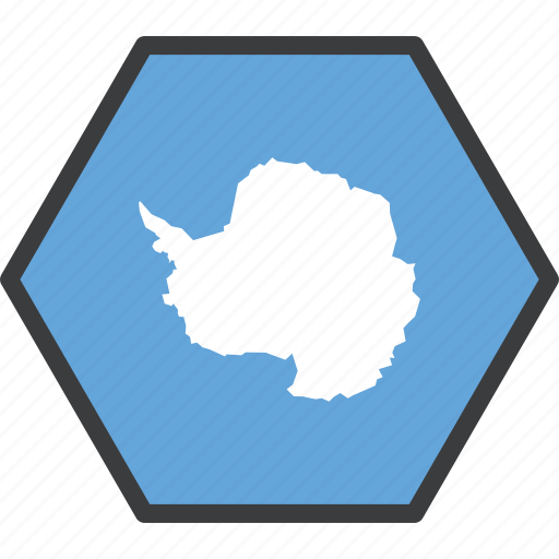 antarctic, antarctica, continent, country, flag, treaty icon