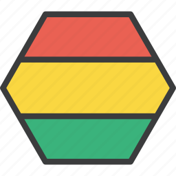 bolivia, bolivian, country, flag icon